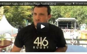 416 Beach Rugby Cup @Brive Plage Festival 2012 - Interview de Thomas Domingo