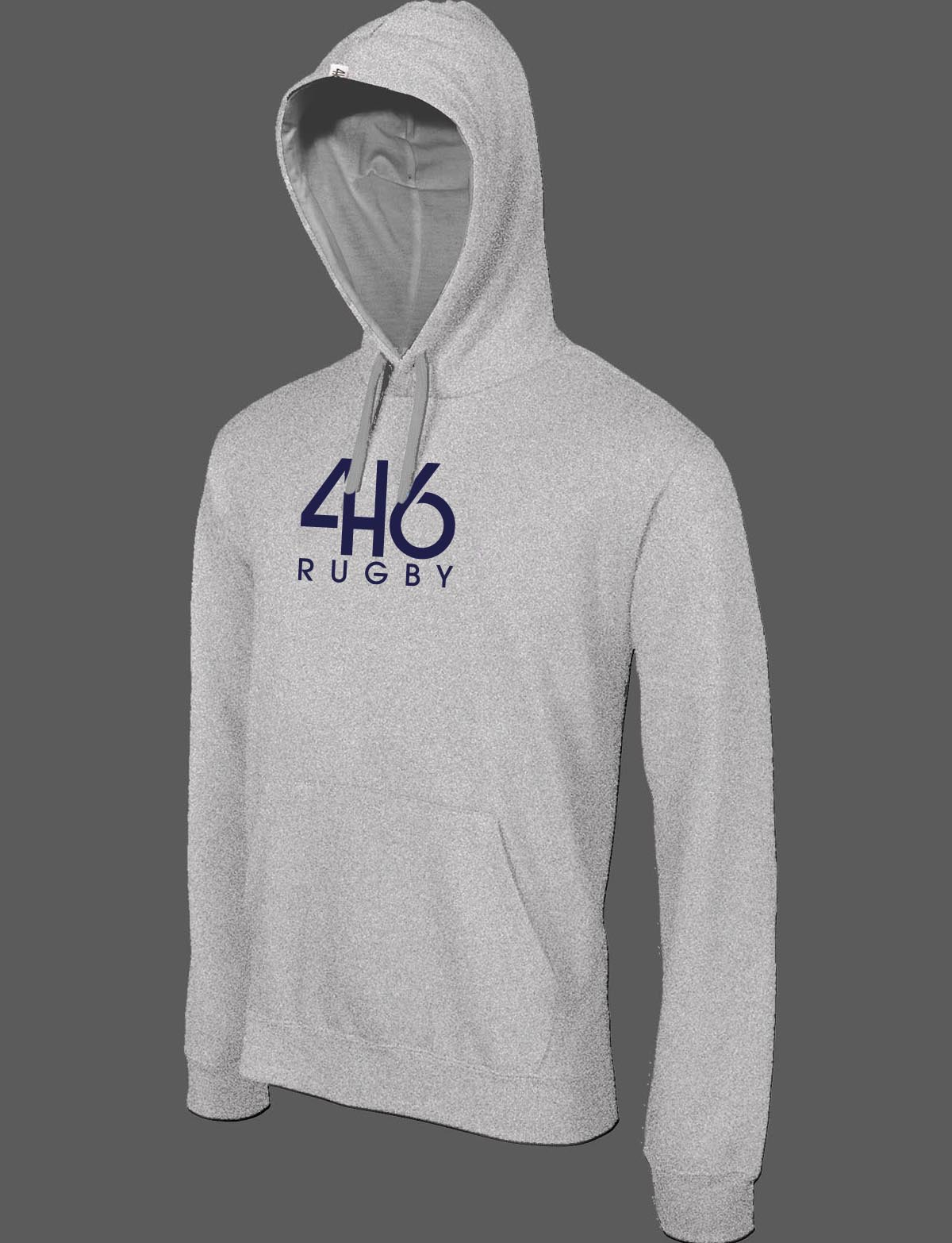 sweat 416 rugby chiné logo navy